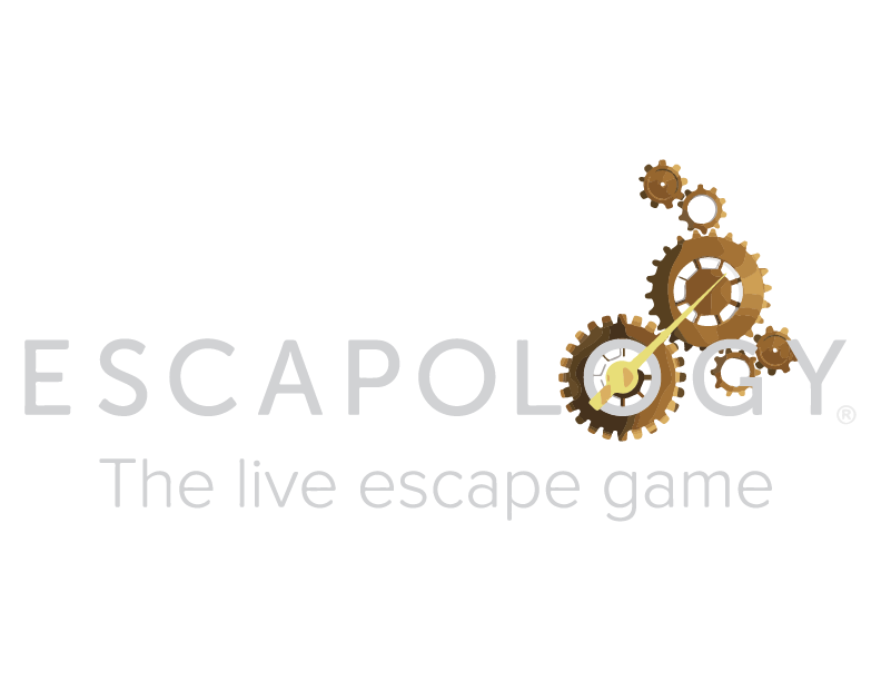 Escapology - the live escape game - logo at the tower shops in pigeon forge tennessee