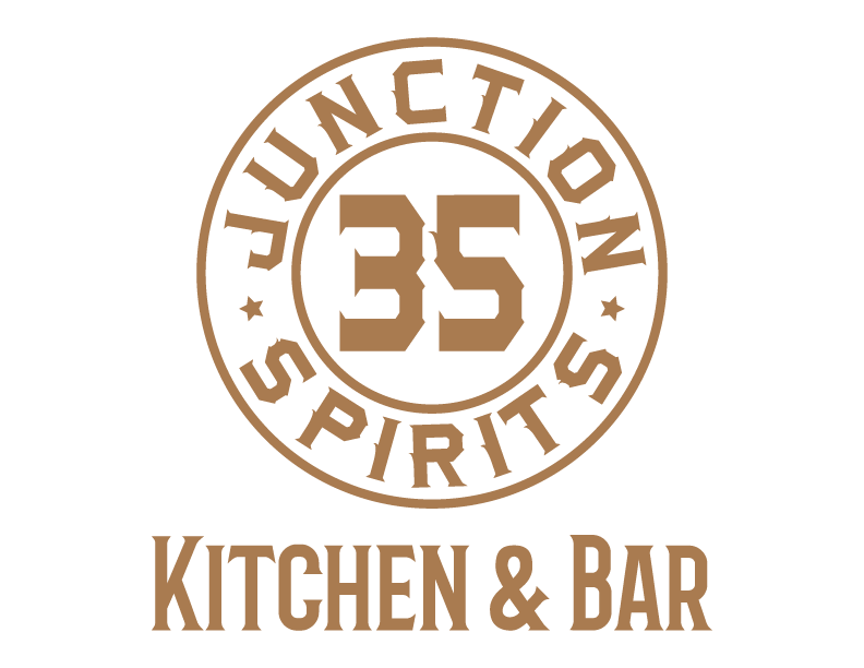 Junction 35 Distillery and restaurant logo at the tower shops in pigeon forge tennessee