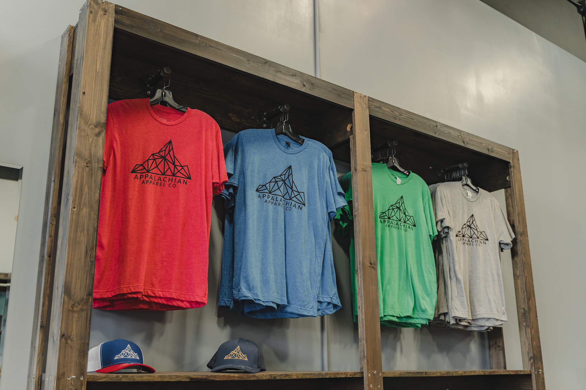 inside Appalachian apparel company at the mountain mile mall in pigeon forge Tennessee