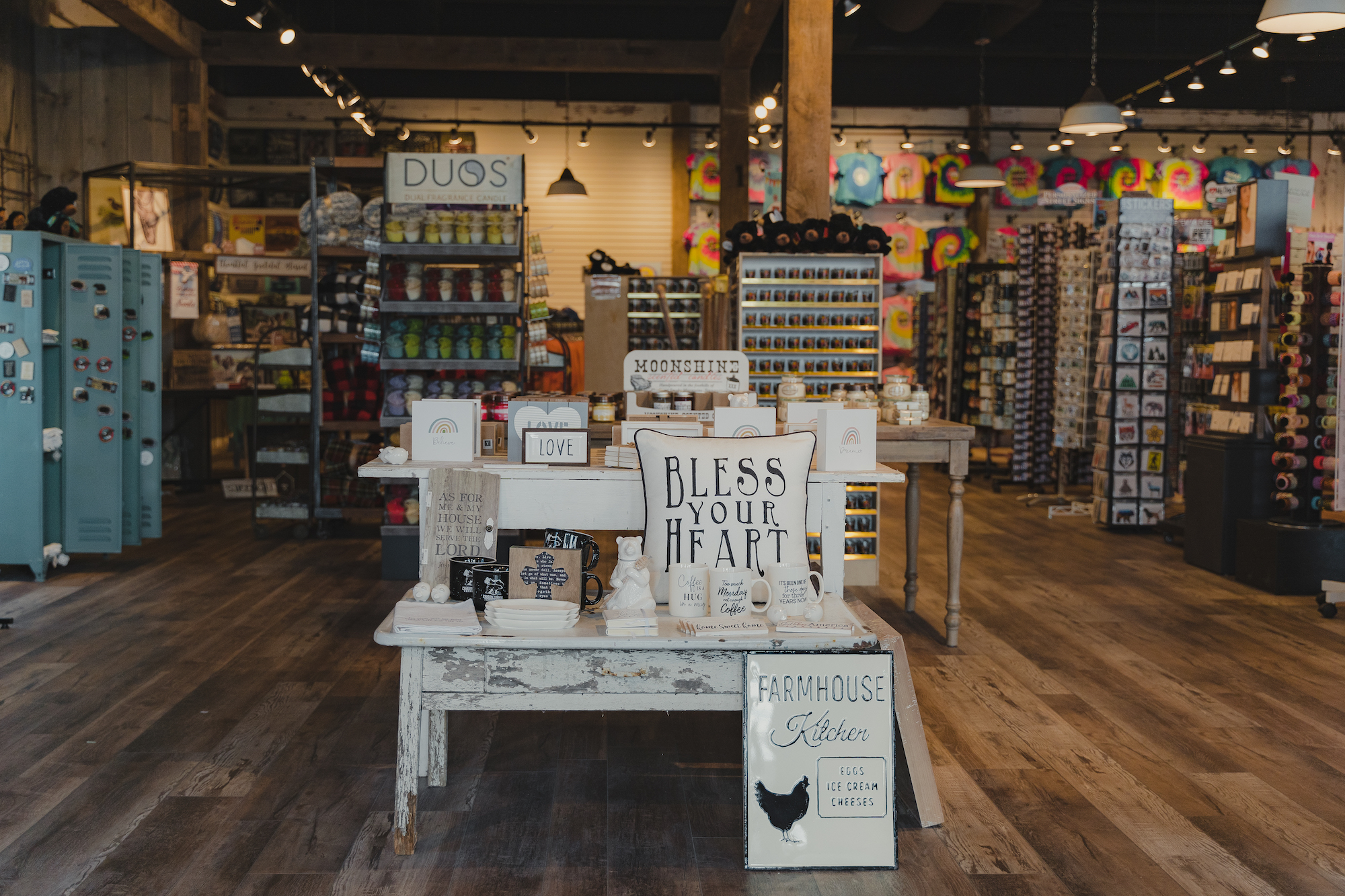 inside the mountain mile general store at the tower shops in pigeon forge tennessee