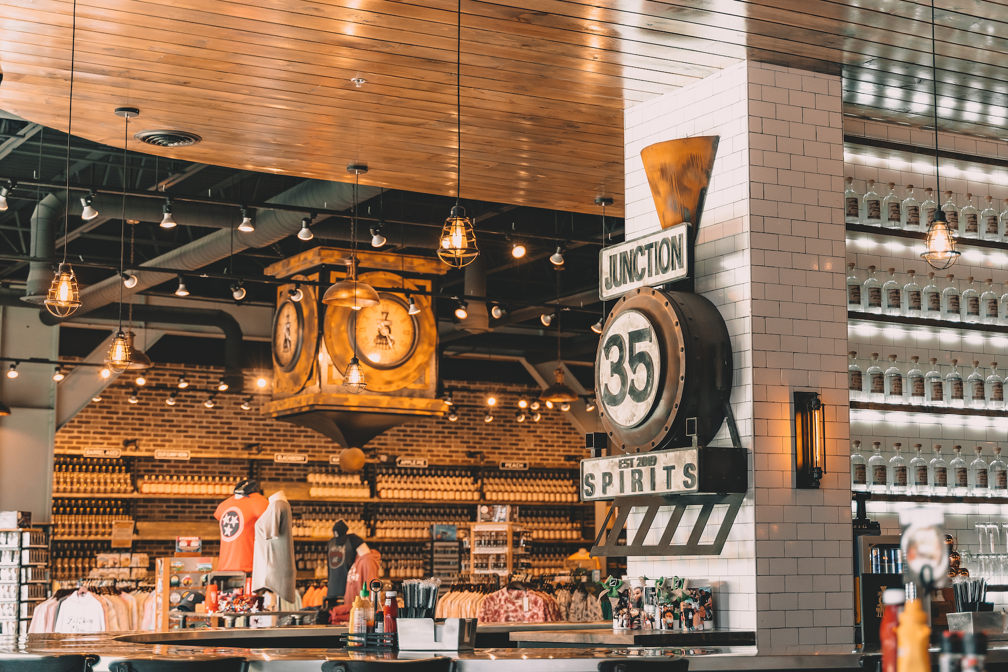 inside junction 35 spirits at the mountain mile mall  in Pigeon Forge Tennessee