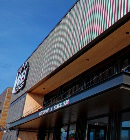 front of REI in the tower shops at the mountain mile mall. in Pigeon Forge Tennessee