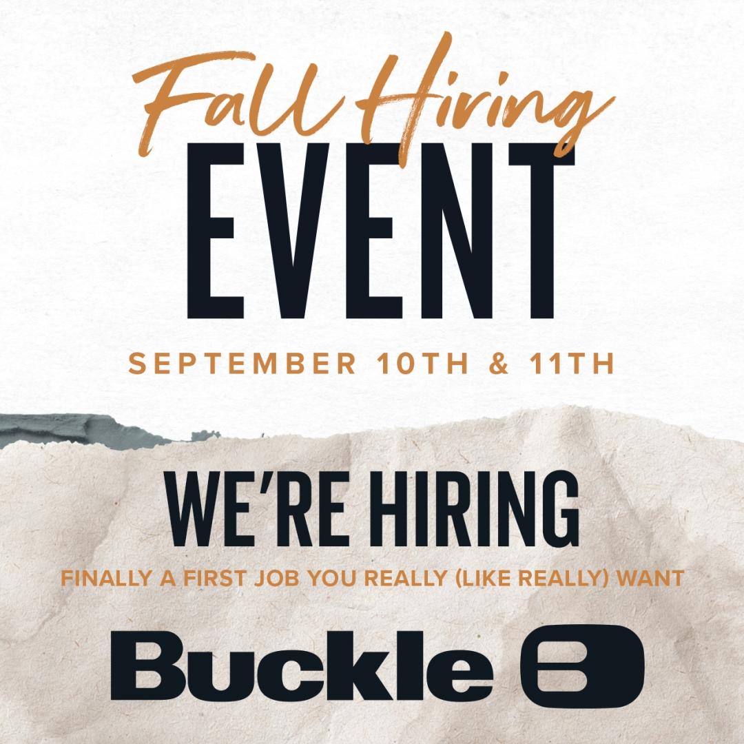 buck fall hiring event