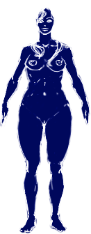 Human female archetype normal-spectrum representation.