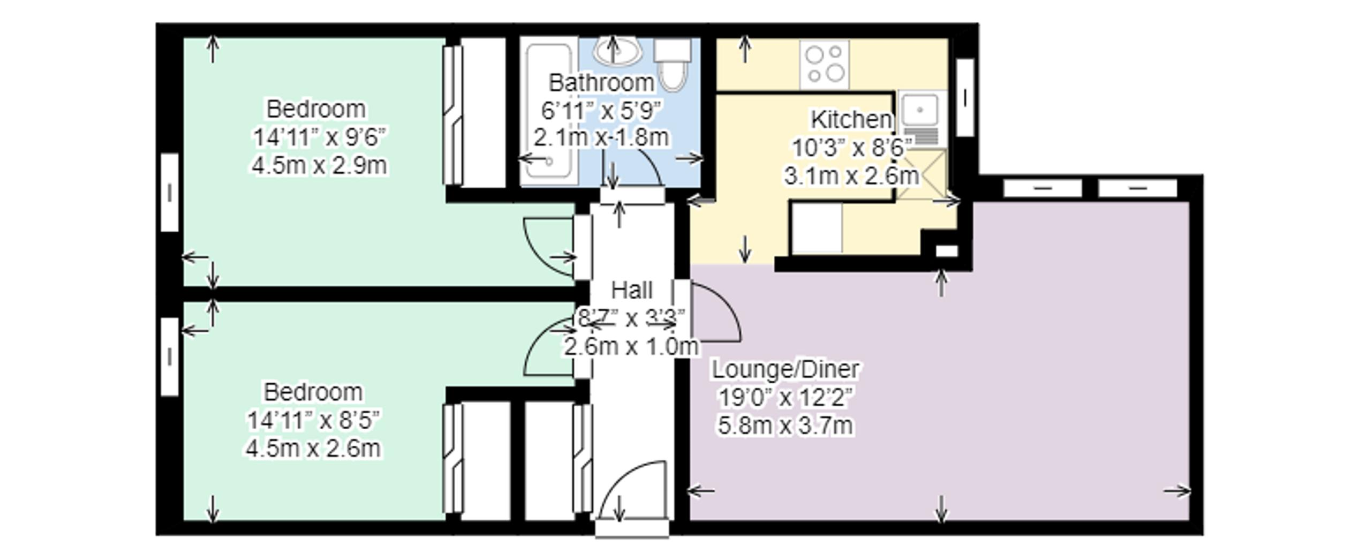 An example of a Riverview Floorplan