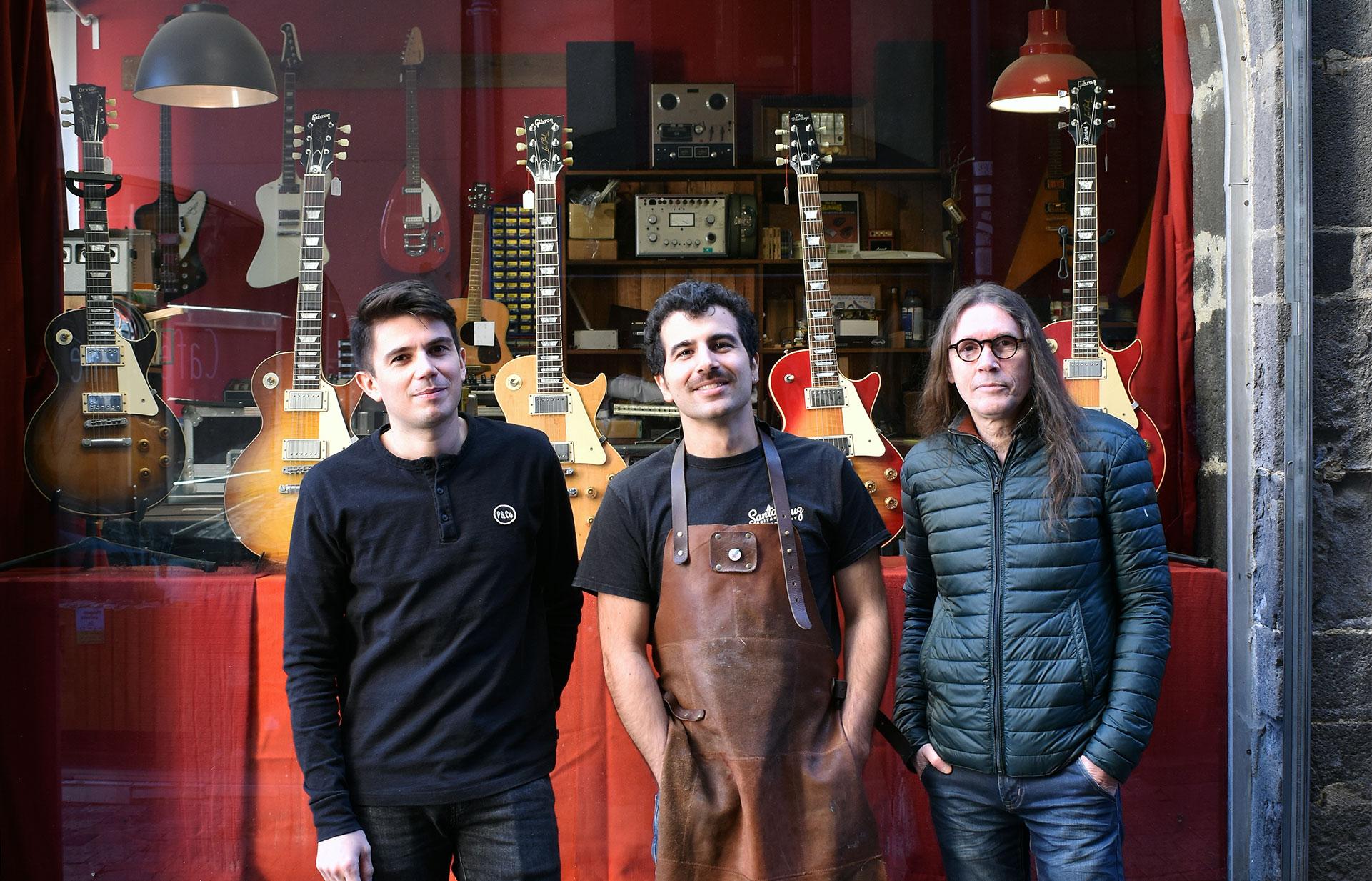 La team Sonic Red au complet. Musiciens passionnés et artisans appliqués.