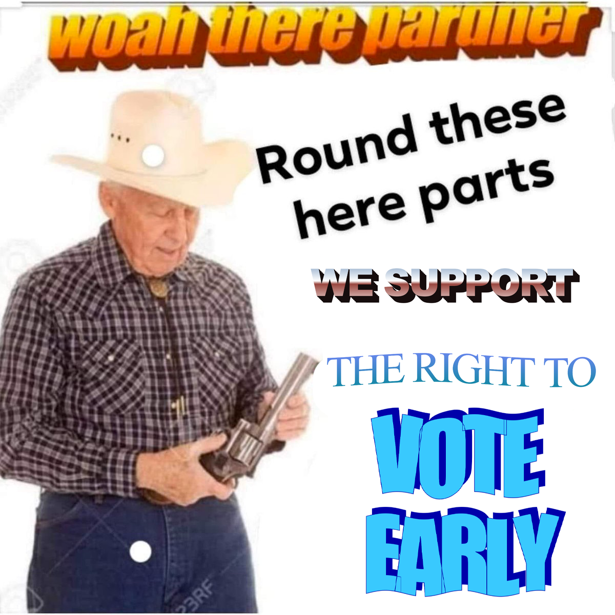 removing people from a voting list isnt very cowboy