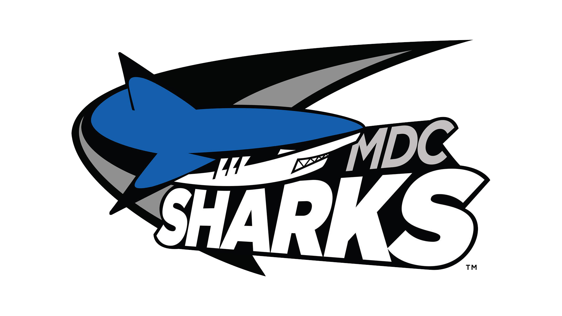 Miami Dade CC Sharks Baseball Logo