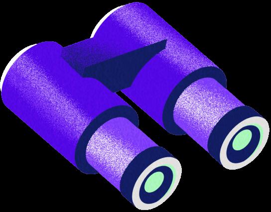 Ilustración de binoculares morados