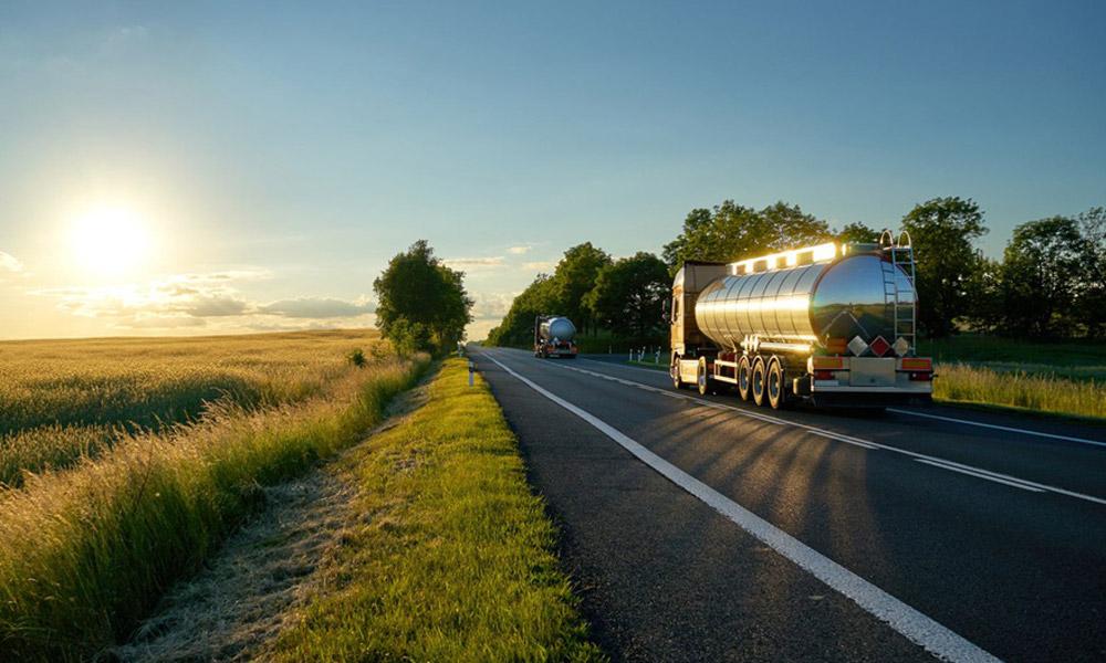 Tanker Trucks driving on Interstate