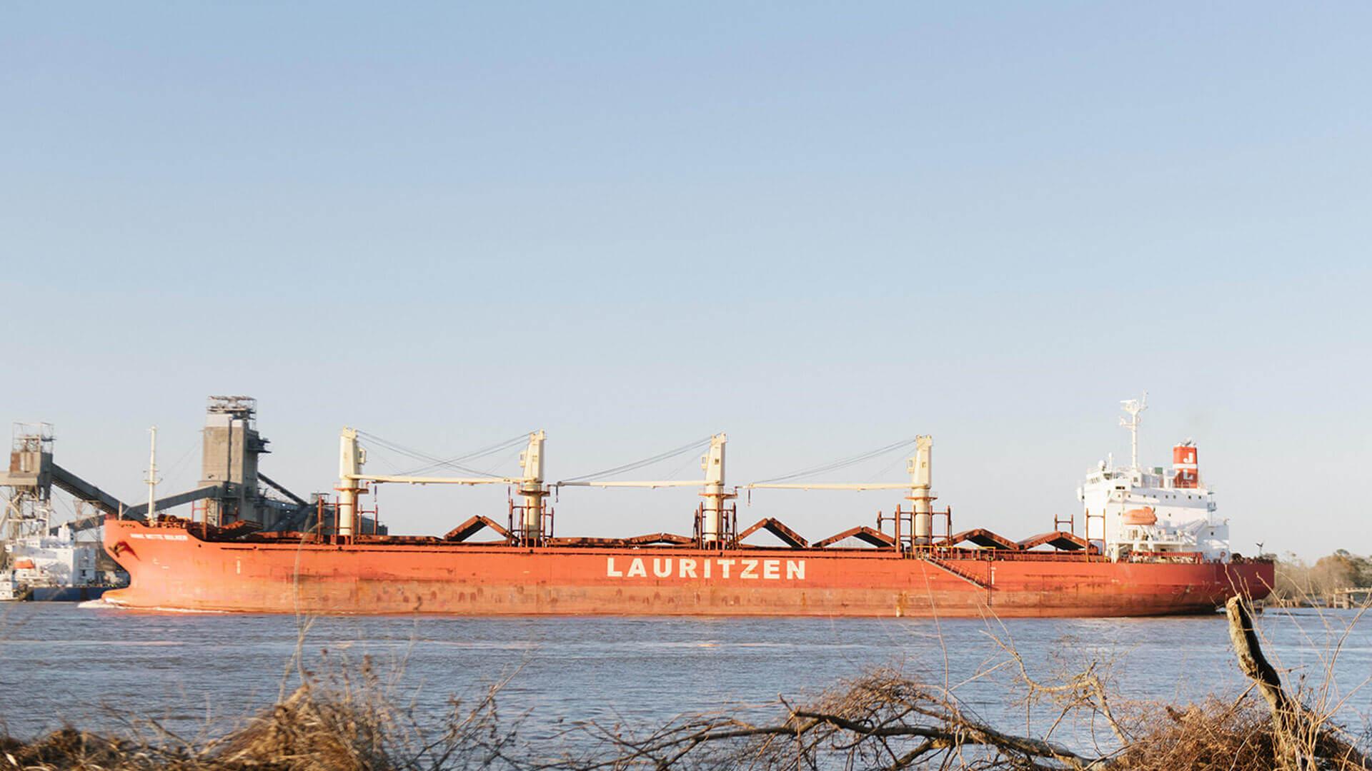 Barge on The Mississippi River.