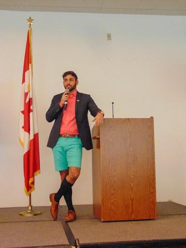 Penrose co-founder, Kerem Kolcuoglu, hosting at The Candian Technology Summit in Bermuda