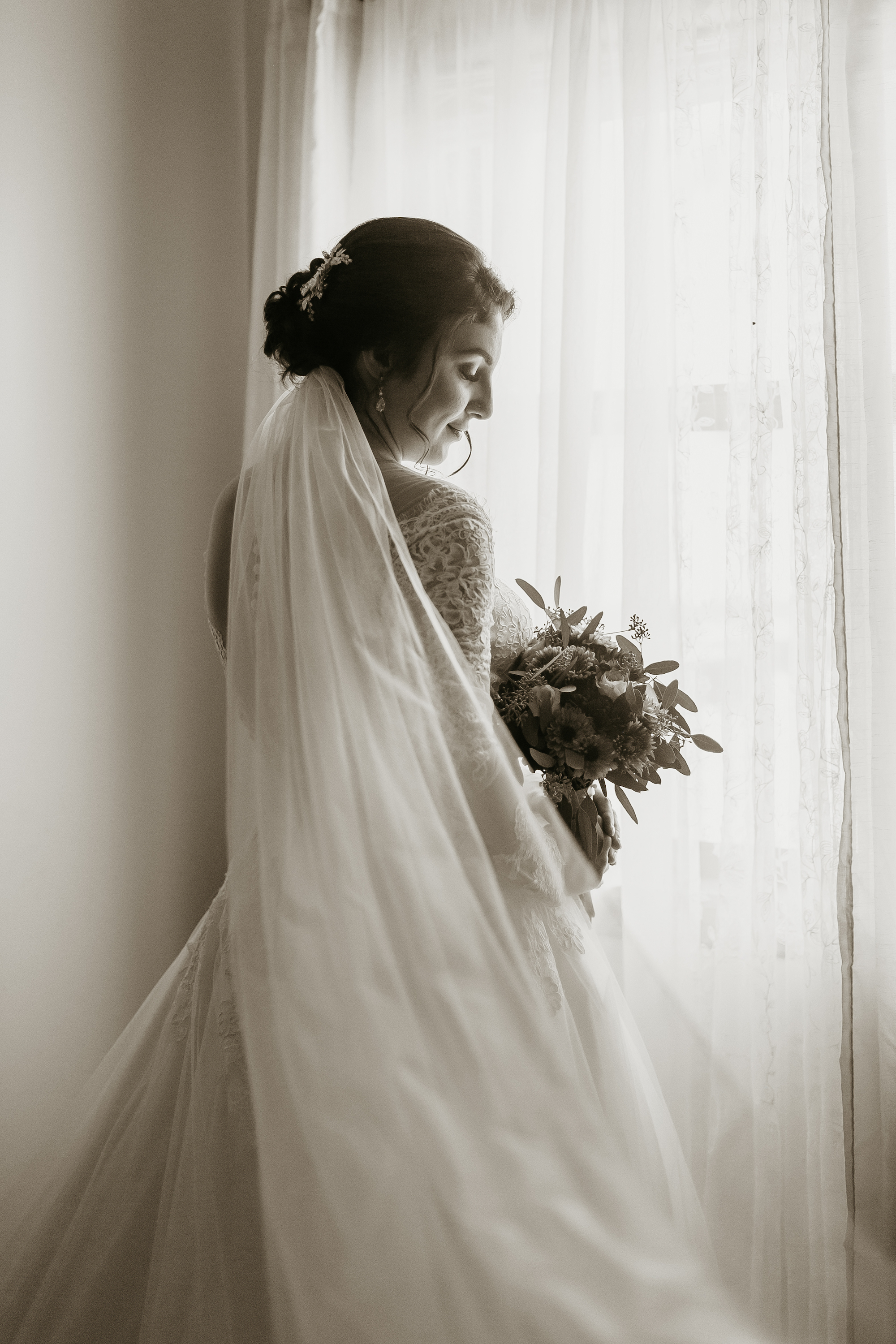 a woman before getting married at flower mountains wedding venue in gatlinburg tennessee