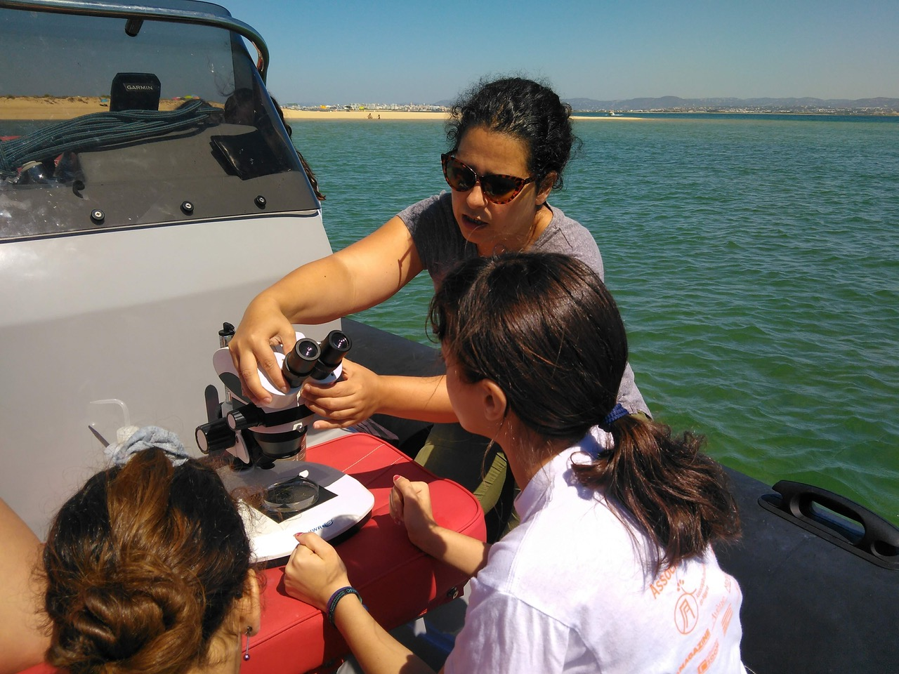 Ocean conservation lessons onboard