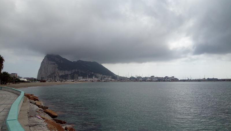 Entering the strait of gibraltar to the mediterranean sea
