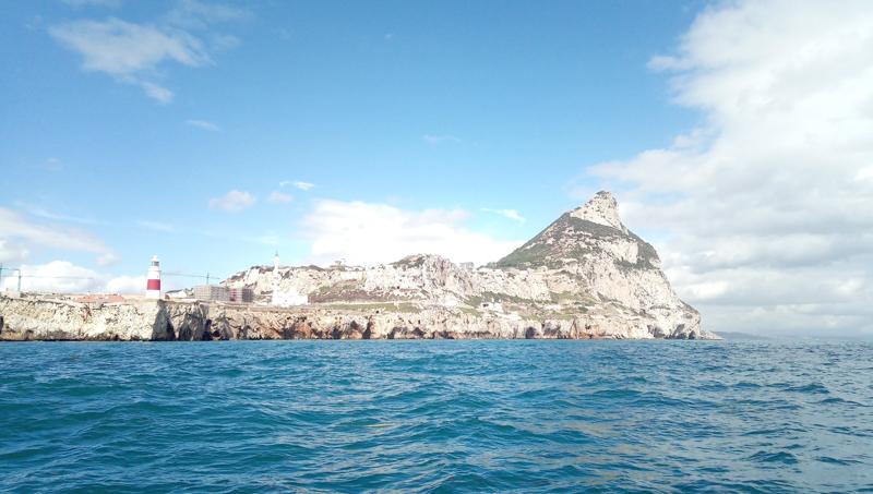 Seaview of GIbraltar rock.