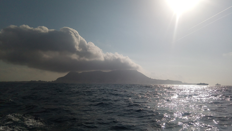 Open seas and the rock of Gibraltar
