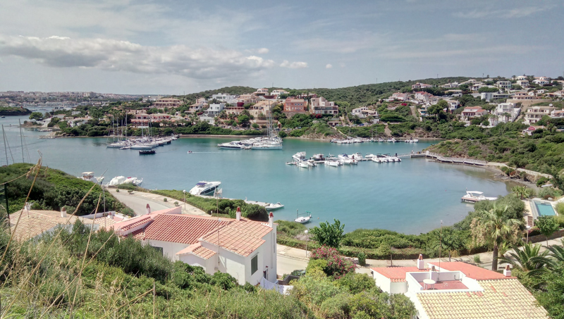Marina in a cala of Menorca