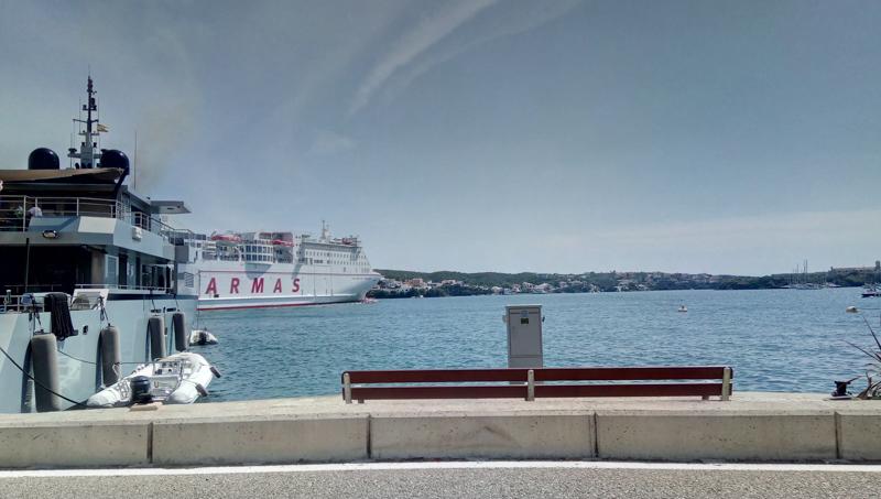Ferry departing Ibiza