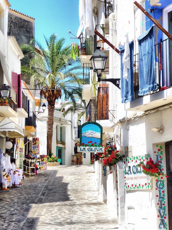 Ibiza small street commerce