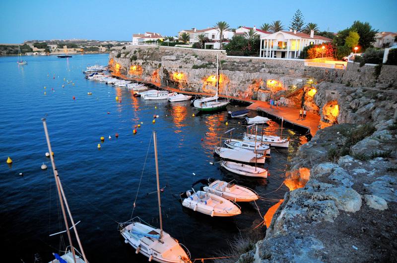 Night mooring in Mallorca