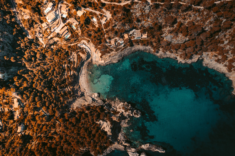 Aerial view of a balearics bay