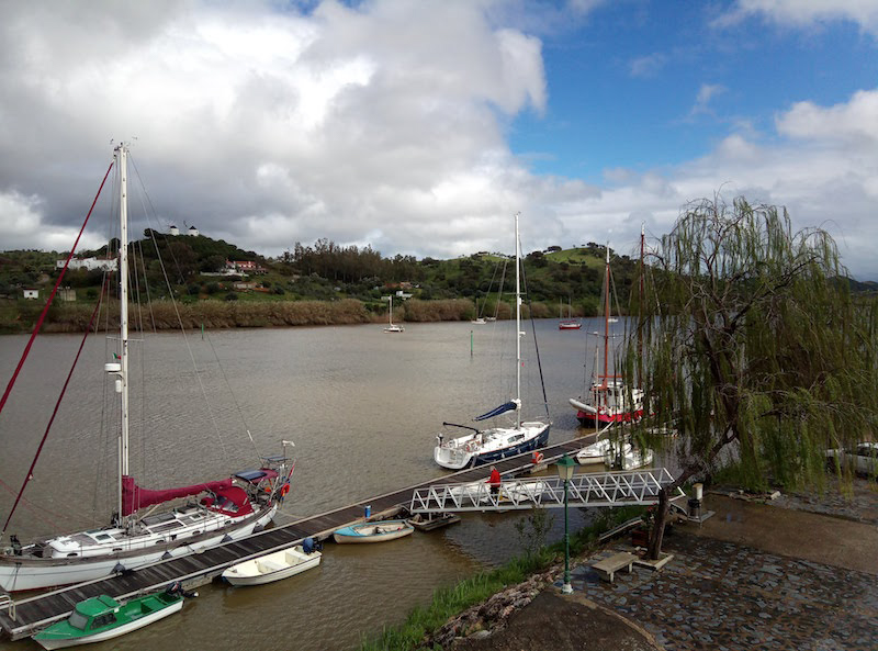 River mooring in guadiana