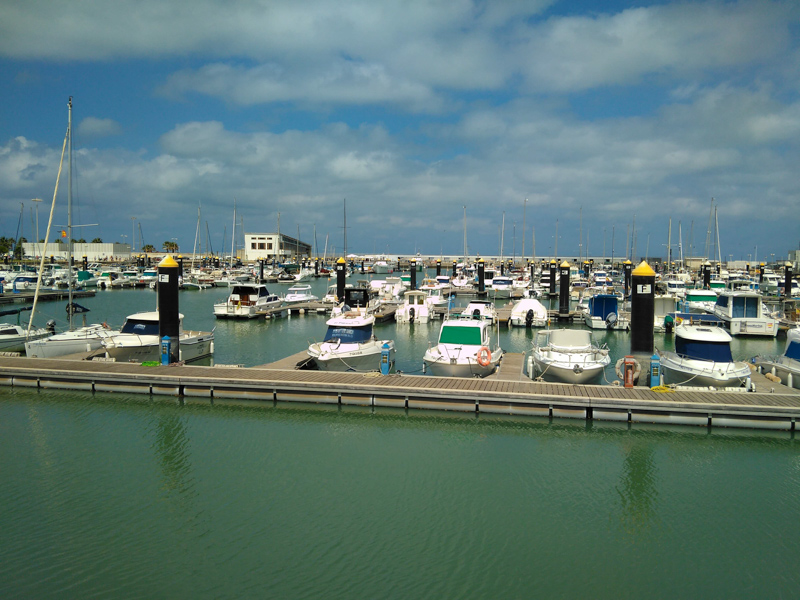 Boats in the marina upon arrival