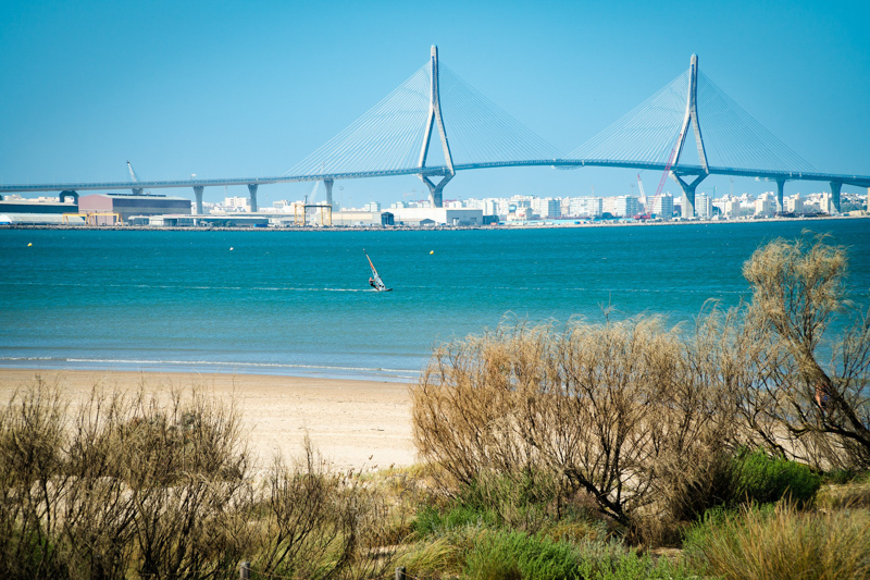 The bridge of Cadiz on a sunny day