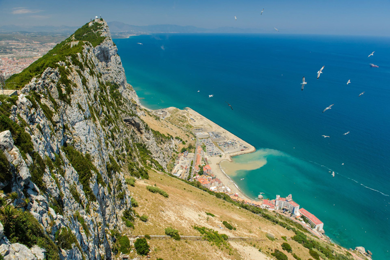 Gibraltar view from the mountains