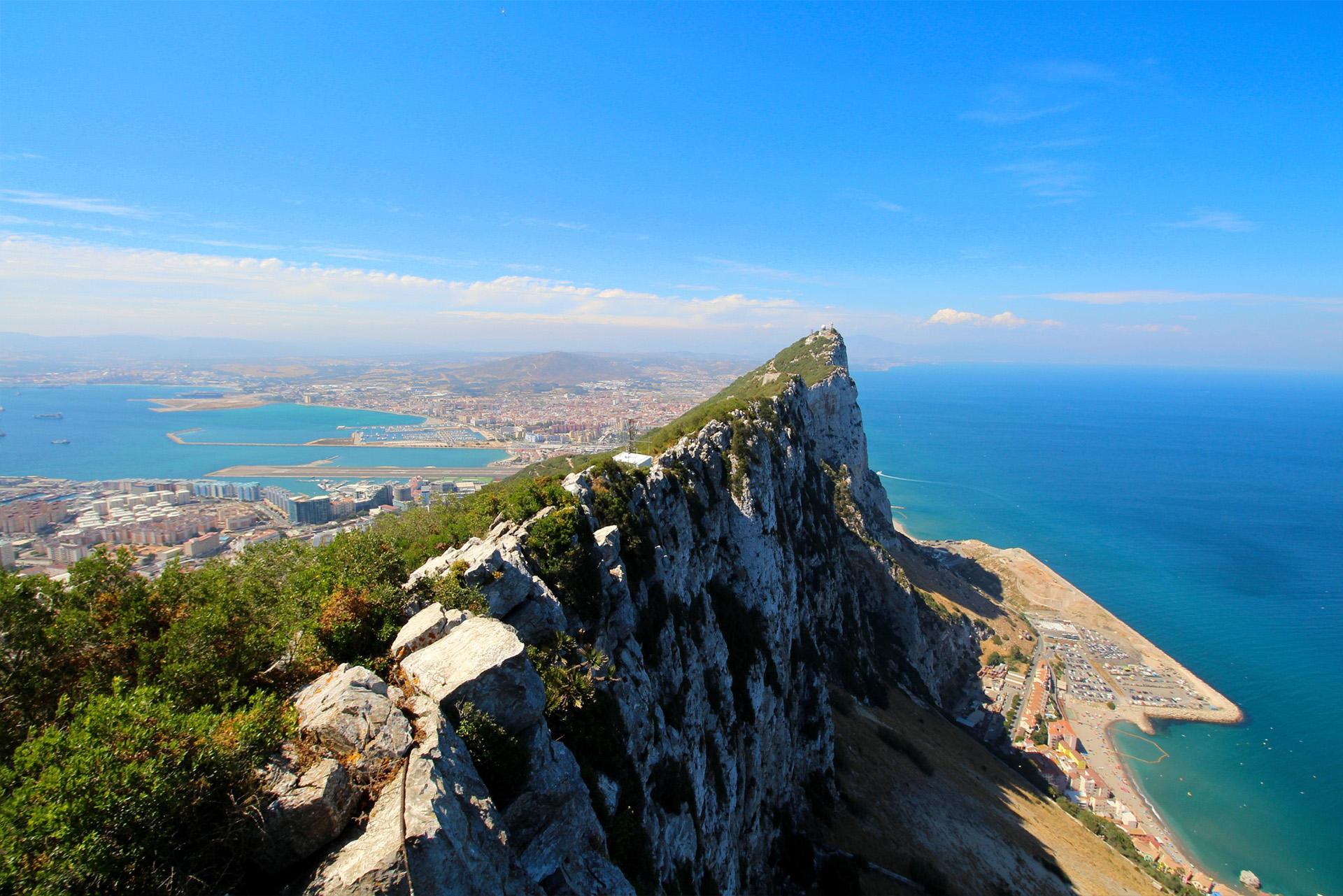 Gibraltar strait landscape exploring
