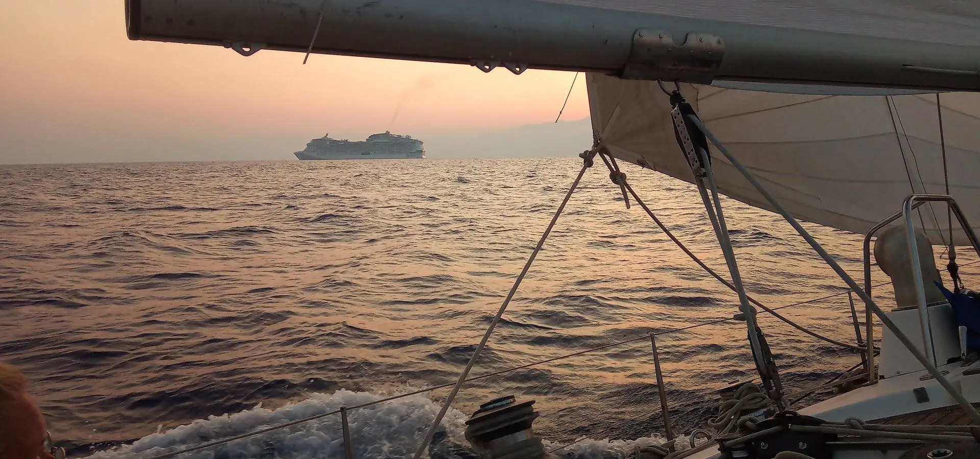 Sailing expedition on blue swan