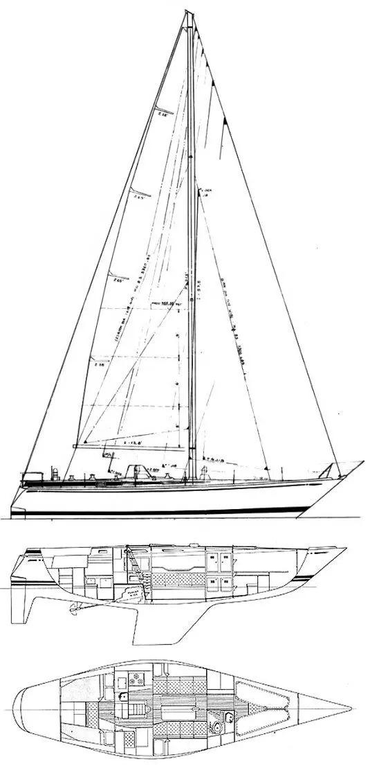 Swan 411 old drawings