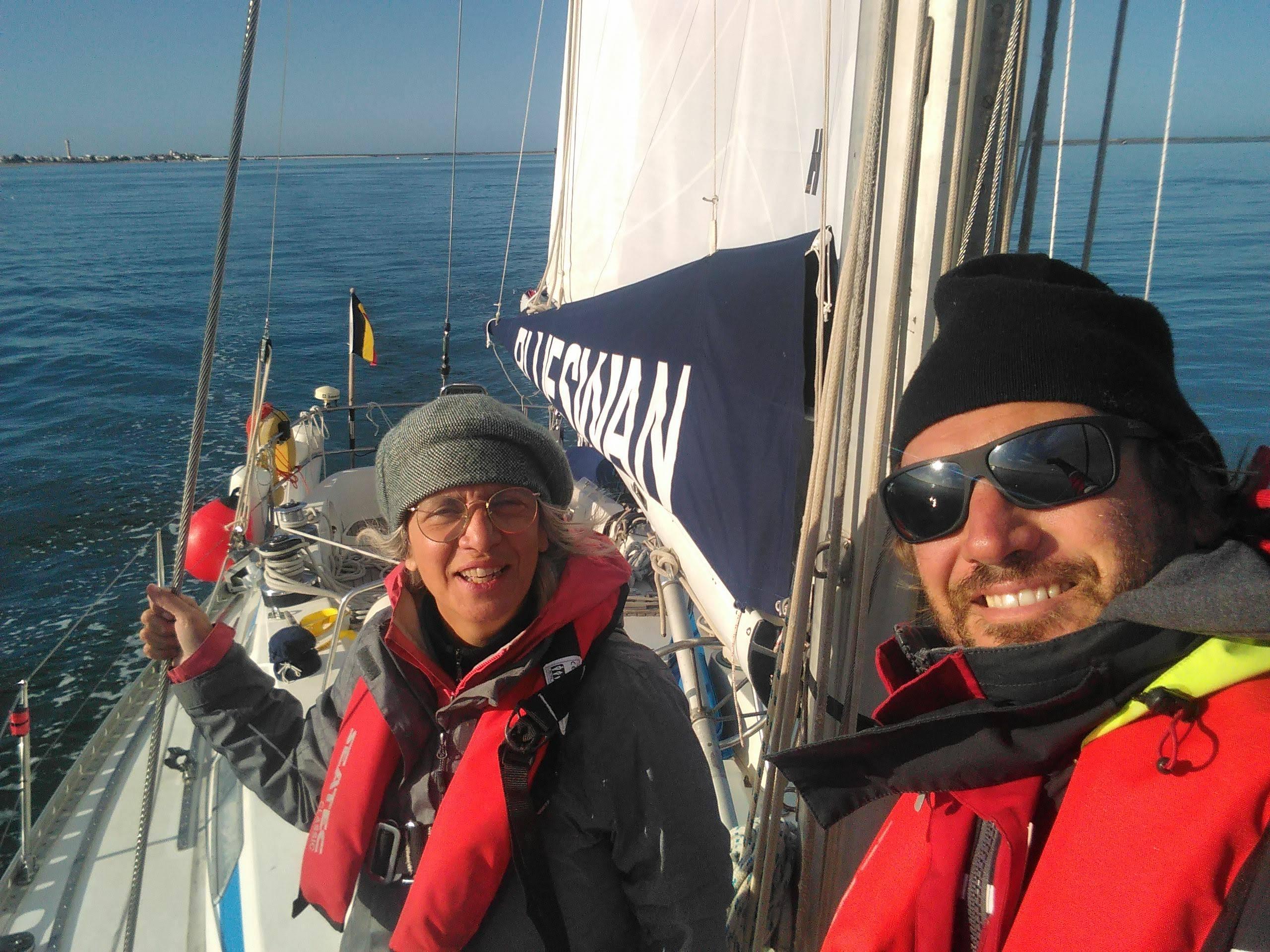 Skipper and crew member onboard