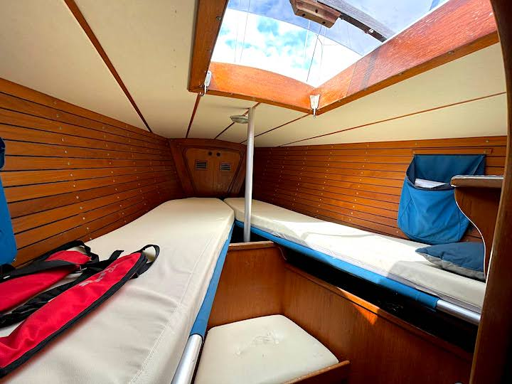 Fwd cabin on a Swan 411