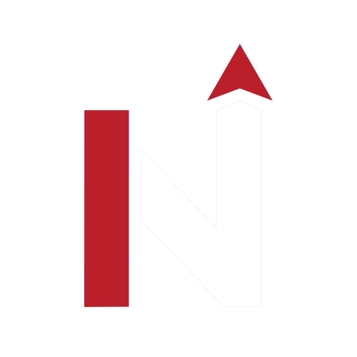 NetCon N logo red and white