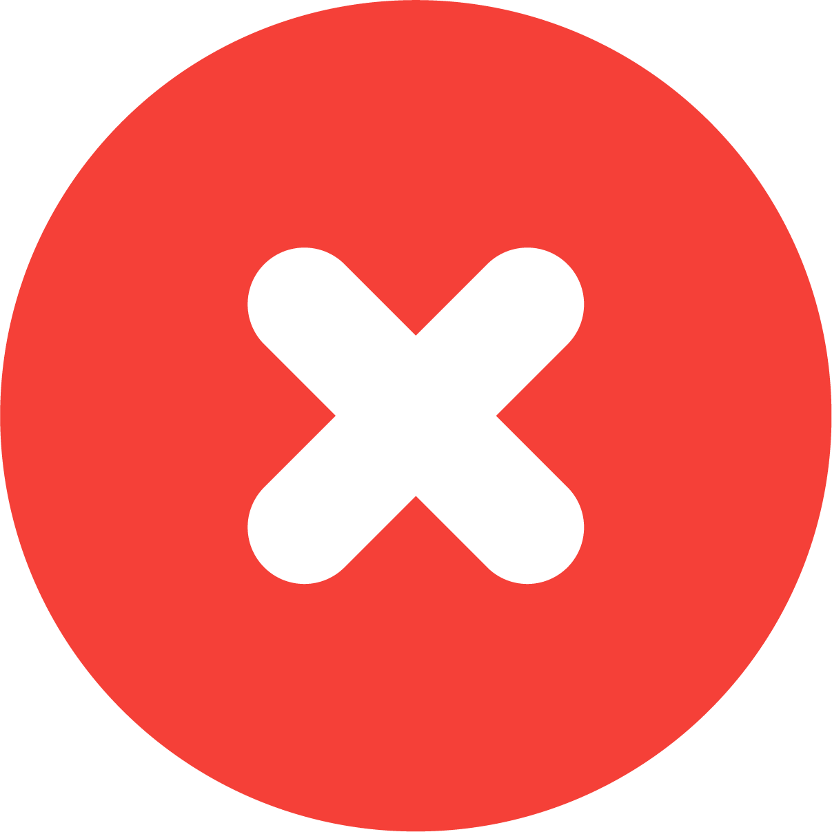 Red X icon