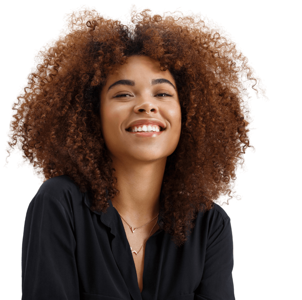 Smiling Woman in Header