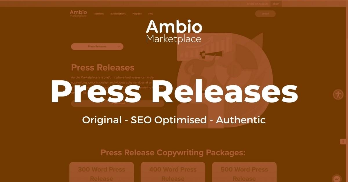 Ambio Marketplace Press Release Writing Service