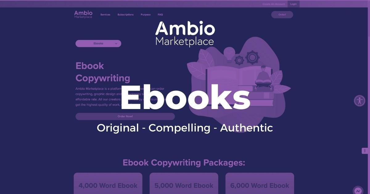 Ambio Marketplace Ebook Writing Service
