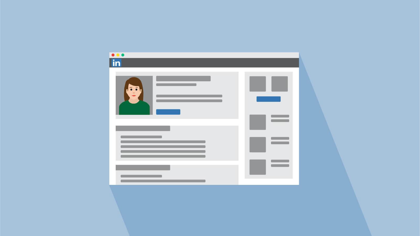 LinkedIn profile UI