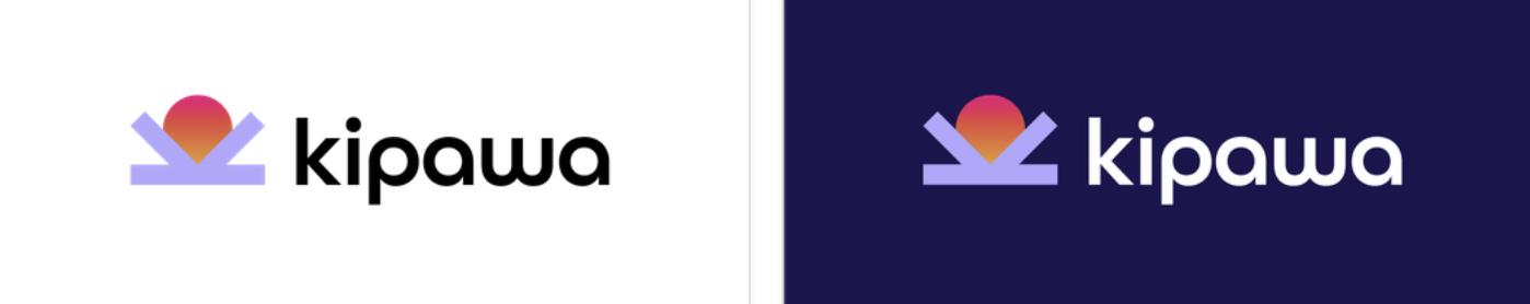 Kipawa logo lockup (blue)