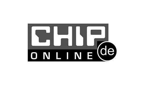 "Logo des Magazins ""Chip"", in welchem 1A Signature features hat."