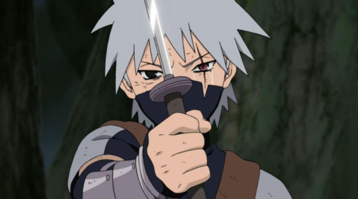 Kakashi Hatake having just received the Sharingan | Kakashi Hatake - Naruto | Heterochromia in Anime