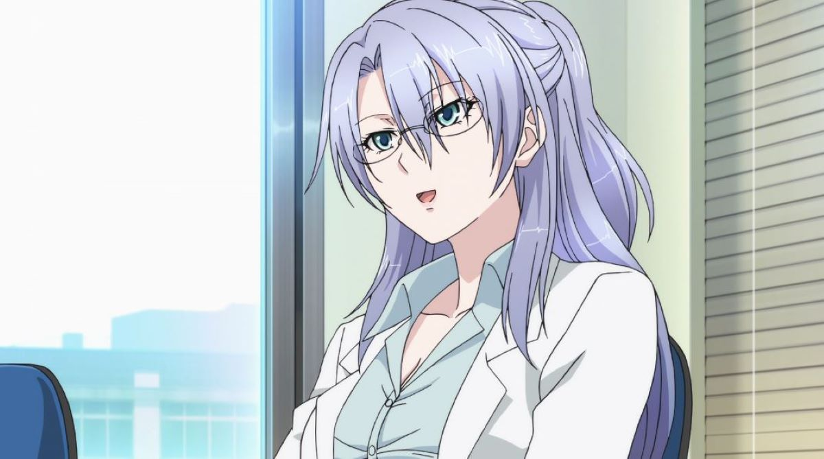 Ayame working with her glasses on | Quiet Glasses Girl | Types of Characters You Will Find in a Harem
