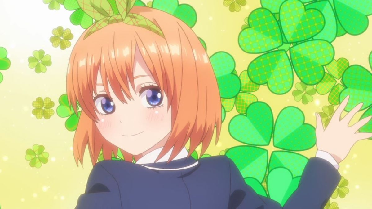 Yotsuba showing off her new ribbon in a characteristically energetic manor | Genki Girl | Types of Characters You Will Find in a Harem
