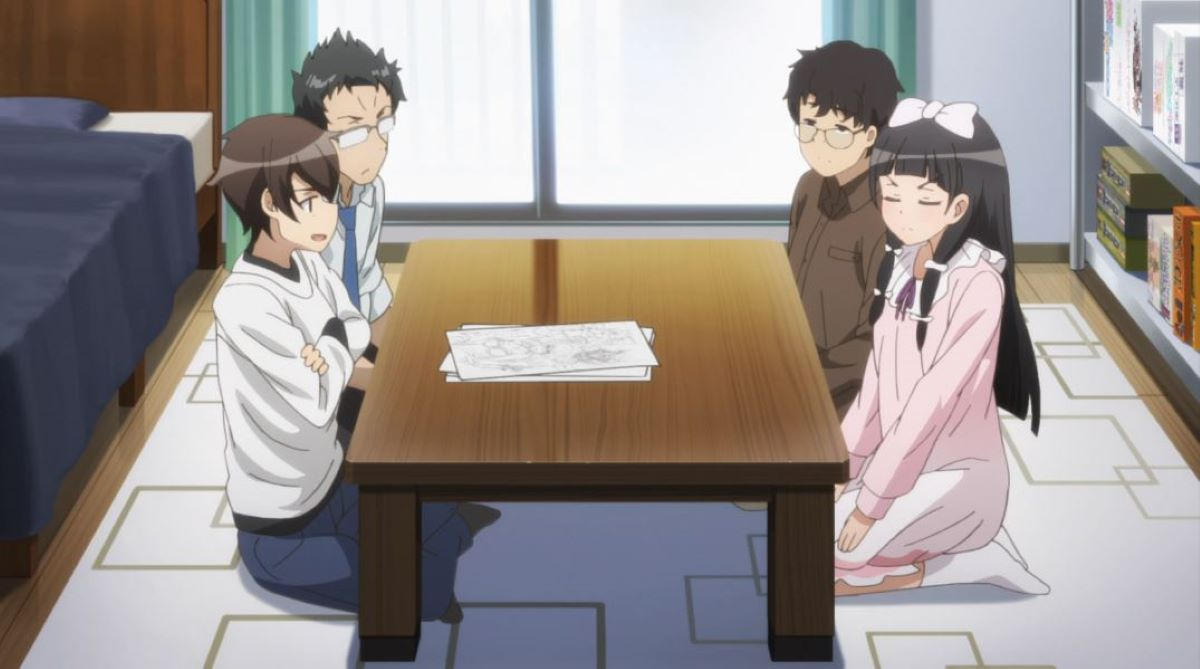 Meeting to discuss the manga adaptation | A Sister's All You Need | Anime About Making Manga?