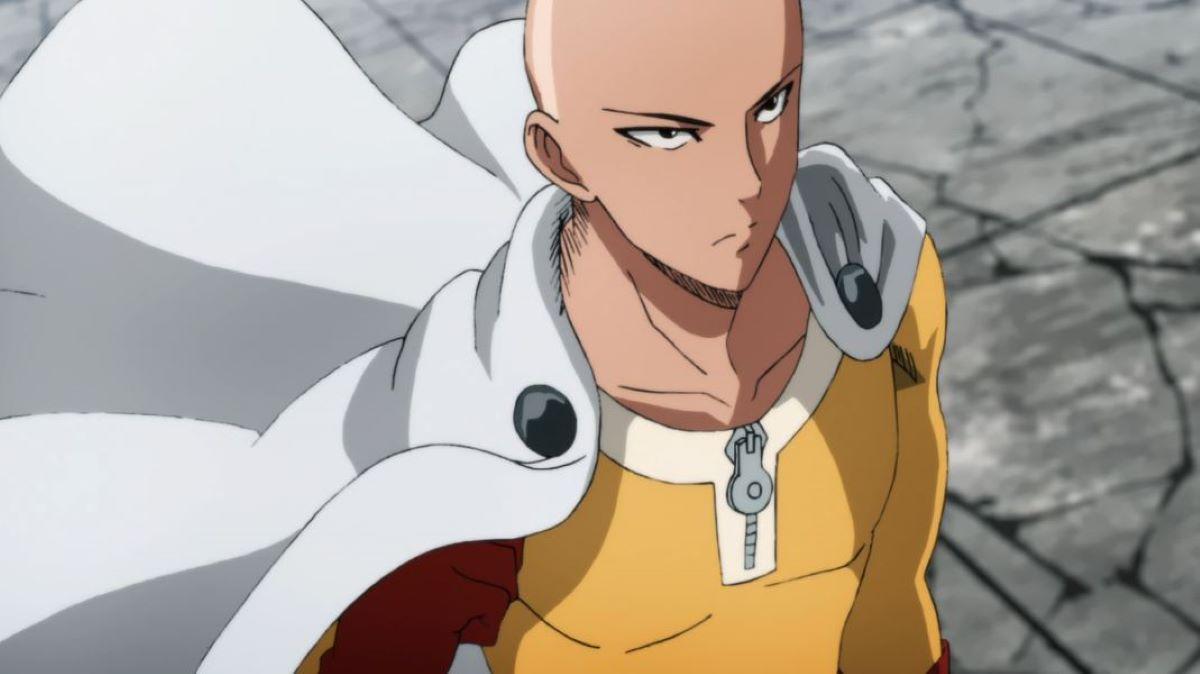 Saitama making a dramatic entrance   Saitama - One Punch Man   Overpowered Characters