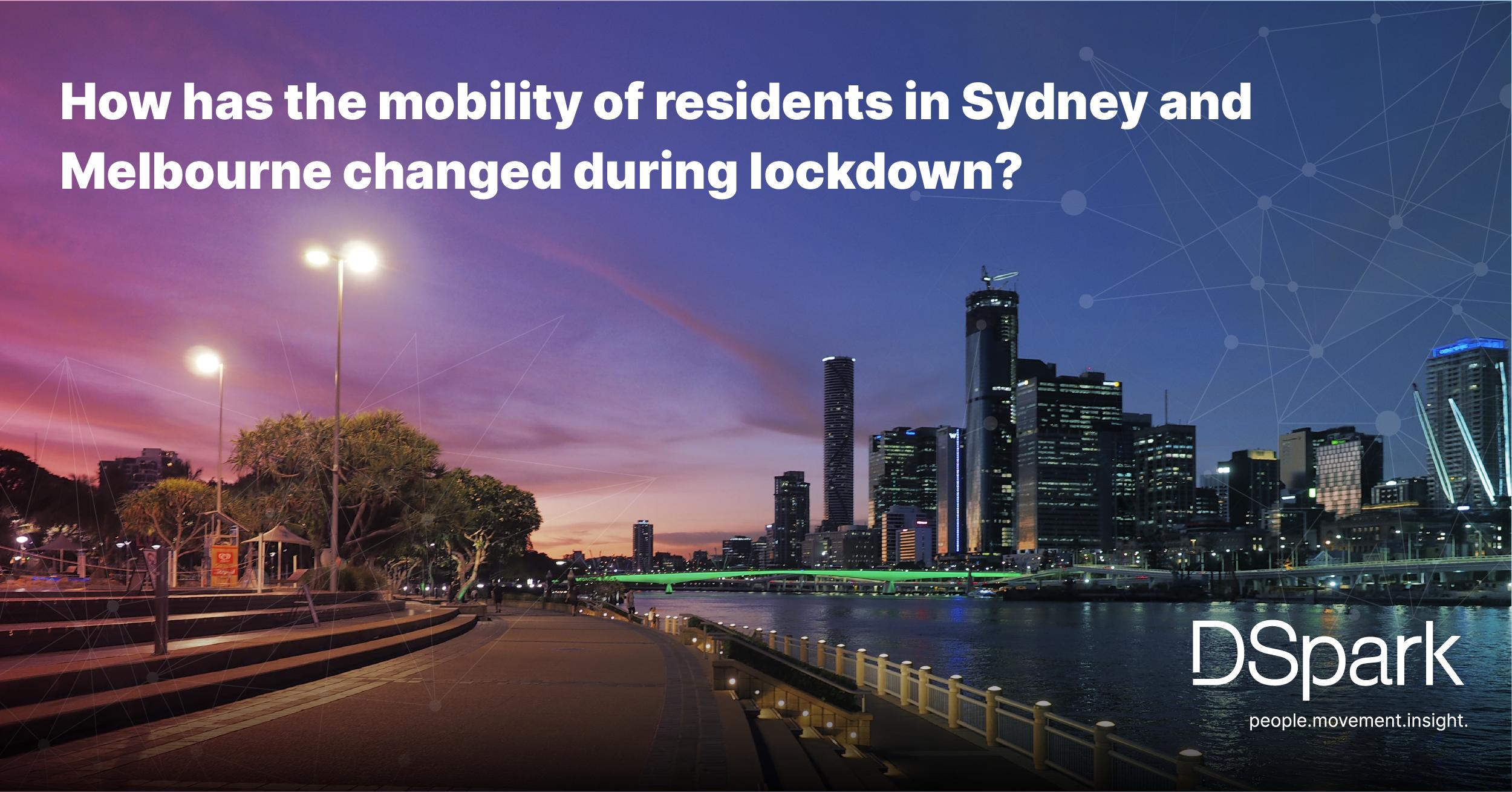 Mobility change in lockdown