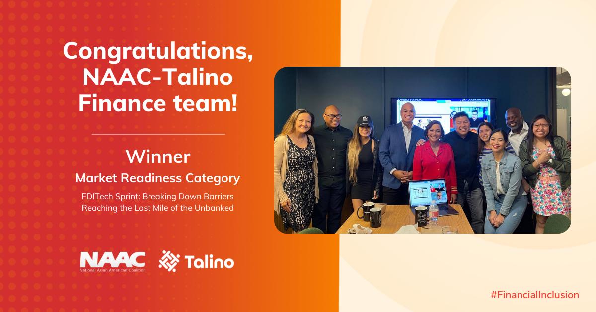 NAAC-Talino Finance Wins Market Readiness Category at the FDIC Tech Sprint